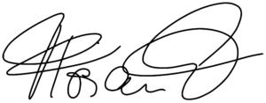 Eine Unterschrift.